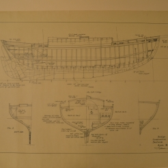 Construction drawing shows rudder